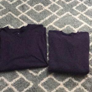 Two Men's Plum Shirts Long & Short Sleeved,XXL